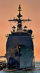 USS ANTIETAM (CG-54)moored at Naval Base San Diego 18 August 2011.