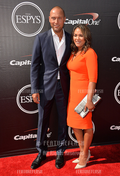 Derek Jeter &amp; Sharlee Jeter at the 2015 ESPY Awards at the Microsoft Theatre LA Live.<br /> July 15, 2015  Los Angeles, CA<br /> Picture: Paul Smith / Featureflash