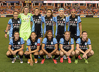 Team photo of the Chicago Red Stars prior to their game with the Houston Dash on Saturday, April 16, 2016 at BBVA Compass Stadium in Houston Texas.