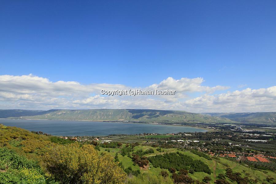 Israel, Jordan valley, a view of the Sea of Galilee