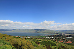 Israel, Jordan valley, a view of the Sea of Galilee