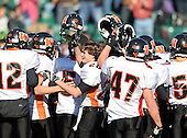 Wayland-Cohocton Eagles varsity football against the Wellsville Lions during the Class-C Section V Championship at Sahlen's Stadium in Rochester, New York on November 5, 2011.  Photo Copyright Mike Janes Photography 2011