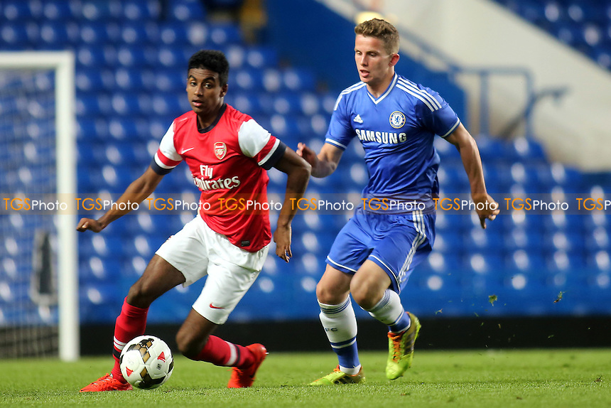 Gedion Zelalem in action for Arsenal - Chelsea Youth vs Arsenal Youth - FA Challenge Youth Cup Semi-Final 1st Leg Football at Stamford Bridge, London - 10/04/14 - MANDATORY CREDIT: Paul Dennis/TGSPHOTO - Self billing applies where appropriate - 0845 094 6026 - contact@tgsphoto.co.uk - NO UNPAID USE