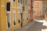 Street near Prague Castle in Prague, Czech Republic.