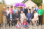 Attending the official opening of Castleisland Resource centre on Wednesday morning was front row l-r: Laura mahony, Grace Daly. Middle row: John O'Sullivan Regional President, Monsignor Dan Riordan, Margaret Sheehan, Oliver Mawe HSC Childcare Manager, Liz Galwey. Back row: Angela Kelleher, Helen Prenderville, Babs Kelleher, Helen O'Donoghue, Marie O'Connor, Pat Tarrant, Sean Nolan, Noreen White, Tomas Horan and Deloras McElligott