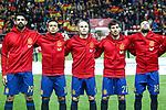 Spain's Diego Costa, Thiago Alcantara, Andres Iniesta, David Jimenez Silva and Jordi Alba during FIFA World Cup 2018 Qualifying Round match. March 24,2017.(ALTERPHOTOS/Acero)