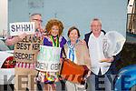 Alan Browne, Niamh Cullinane, Doreen Sethwick and Fergal O'Dowd at the Cloghane/Brandon annual Féile Lúghnasa Fancy Dress Parade on Sunday