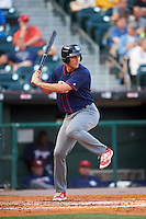 Lehigh Valley IronPigs right fielder Cam Perkins (27) at bat during a game against the Buffalo Bisons on July 9, 2016 at Coca-Cola Field in Buffalo, New York.  Lehigh Valley defeated Buffalo 9-1 in a rain shortened game.  (Mike Janes/Four Seam Images)