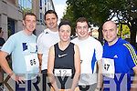 Pictured at the Enable Ireland 5k run at the Brandon on Saturday, from left: Joe Dwyer, Limerick, Eoin Donovan, Tralee, Danielle Hegarty, Cork, Des McCarthy, Cork and Neil O'Sullivan, from Cork, all living in Tralee.