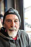 USA, Colorado, Aspen, portrait of a local man at Victoria's Espresso Wine Bar, downtown Aspen