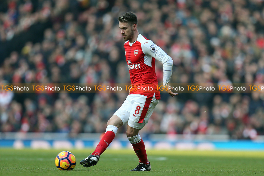 Aaron Ramsey of Arsenal during Arsenal vs Burnley, Premier League Football at the Emirates Stadium on 22nd January 2017