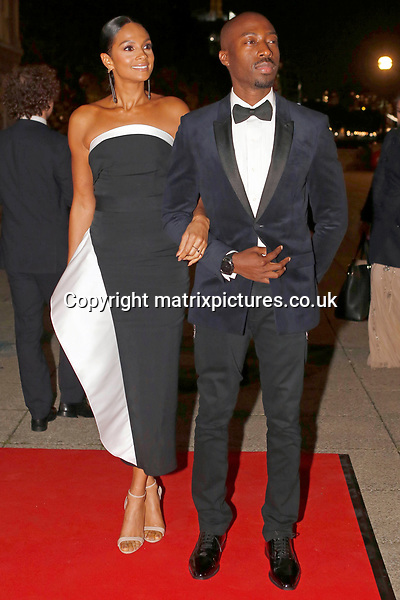 NON EXCLUSIVE PICTURE: MATRIXPICTURES.CO.UK<br /> PLEASE CREDIT ALL USES<br /> <br /> WORLD RIGHTS<br /> <br /> Alesha Dixon and Azuka Ononye are pictured as she attends the Britain's Got Talent Childline Ball at Old Billingsgate Market in London.<br /> <br /> SEPTEMBER 28th 2017<br /> <br /> REF: WBD 172253