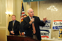 10/16/10 9:29:33 AM -- Holmes, PA<br />  -- Republican Congressional candidate Pat Meehan campaigns at a Republican breakfast event October 16, 2010 in Holmes, Pennsylvania. Meehan faces incumbent Democrat Bryan Lentz in the Nov. 2 general election. --  Photo by William Thomas Cain/Cain Images