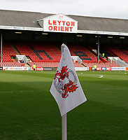 The Leyton Orient FC flag seen prior to the Sky Bet League 2 match between Leyton Orient and Grimsby Town at the Matchroom Stadium, London, England on 11 March 2017. Photo by Carlton Myrie / PRiME Media Images.