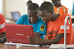 Students in computer class at the Loreto Girls Secondary School in Rumbek, South Sudan. The school is run by the Institute for the Blessed Virgin Mary--the Loreto Sisters--of Ireland.