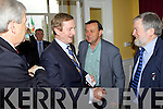 Frank Quilter with An Taoiseach Enda Kenny pictured attending the Business briefing on the Stability Treaty in the Dromhall Hotel, Killarney, on Friday