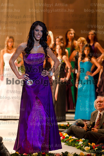 Zsofia Botos attends the Miss Hungary 2010 beauty contest held in Budapest, Hungary on November 29, 2010. ATTILA VOLGYI