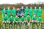 The Kerry u15 team that played Waterford in Killarney on Sunday front row l-r: Denis O'Riordan, Patrick Travers, Declan Ryle, Aran Houlihan, Uros Ivkovic, Tomas Templeman, Shane Carey. Back row: Mike Horgan, Daniel Barrett, Brian Walsh, Shane O'Sullivan, Adam O'Donnell, Patrick Sweeney, Conor Riordan, Tadgh Moore and David Smith   Copyright Kerry's Eye 2008