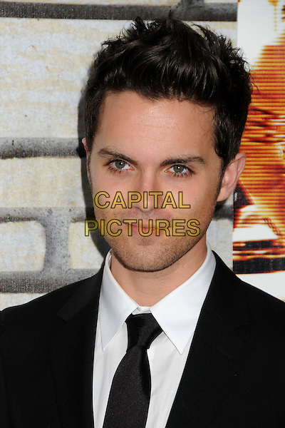 "THOMAS DEKKER .HBO Films' ""Cinema Verite"" Los Angeles Premiere held at Paramount Studios, Los Angeles, California, USA,.11th April 2011..portrait headshot  stubble facial hair  black suit tie white shirt .CAP/ADM/BP.©Byron Purvis/AdMedia/Capital Pictures."