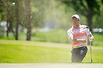 SUGAR GROVE, IL - MAY 29: Edoardo Lipparelli of the University of Illinois chips out of the trap during the Division I Men's Golf Individual Championship held at Rich Harvest Farms on May 29, 2017 in Sugar Grove, Illinois. (Photo by Jamie Schwaberow/NCAA Photos via Getty Images)