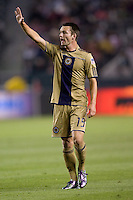 Philadelphia Union rookie forward Jack McInerney (19) yells for the ball. The Philadelphia Union and CD Chivas USA played to 1-1 draw at Home Depot Center stadium in Carson, California on Saturday evening July 3, 2010..