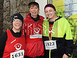 Annmarie Kerins, Helen Molloy and Leanne Saurin who took part in the Duleek & District 5K run. Photo:Colin Bell/pressphotos.ie