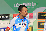 Ruben Plaza (ESP) Israel Cycling Academy at sign on before the start of the 112th edition of Il Lombardia 2018, the final monument of the season running 241km from Bergamo to Como, Lombardy, Italy. 13th October 2018.<br /> Picture: Eoin Clarke | Cyclefile<br /> <br /> <br /> All photos usage must carry mandatory copyright credit (© Cyclefile | Eoin Clarke)