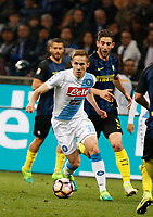 Marko Rog during the  italian serie a soccer match,between Inter FC  and SSC Napoli      at  the San Siro   stadium in Milan  Italy , April  30, 2017