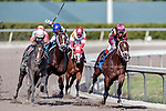 HALLANDALE BEACH, FL - December 16: Navistar #3 wins Maiden for trainer Todd A. Pletcher with jockey John Velasquez in the irons at Gulfstream Park on December 16, 2017 in Hallandale Beach, FL. (Photo by Bob Aaron/Eclipse Sportswire/Getty Images)