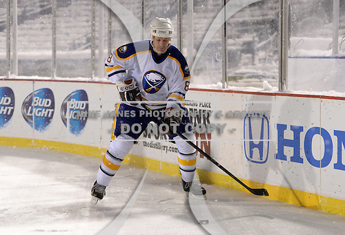 Darryl Shannon (8) during The Frozen Frontier Buffalo Sabres vs. Rochester Amerks Alumni Game at Frontier Field on December 15, 2013 in Rochester, New York.  (Copyright Mike Janes Photography)