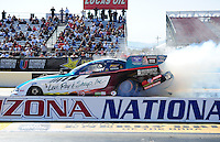 Feb. 17 2012; Chandler, AZ, USA; NHRA funny car driver Tim Wilkerson during qualifying for the Arizona Nationals at Firebird International Raceway. Mandatory Credit: Mark J. Rebilas-