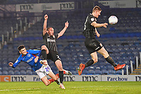 Leon Maloney of Portsmouth left scores to make the score 1-1 during Portsmouth vs Northampton Town, Leasing.com Trophy Football at Fratton Park on 3rd December 2019