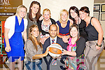 Raza Ur Rehman, Scruffys Bar, Killarney, pictured with Raza Ur Rehman, Scruffys Bar, Killarney, pictured with Rheanne O'Shea, Marian O'Callaghan, Mairead Finnegan, Laura Moloney, Emer Buckley, Lynn Jones, Muiri?osa Galwey and Mags Cronin, at the launch of the Scruffys St Pauls team in the Towers Hotel, Killarney on Friday night.