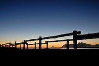 Wooden Bridge at sunset - Hermanus, South Western Cape, South Africa
