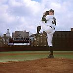 16384Marc Cornell : Portrait pitching on field / high res scan..Bob Wren Stadium