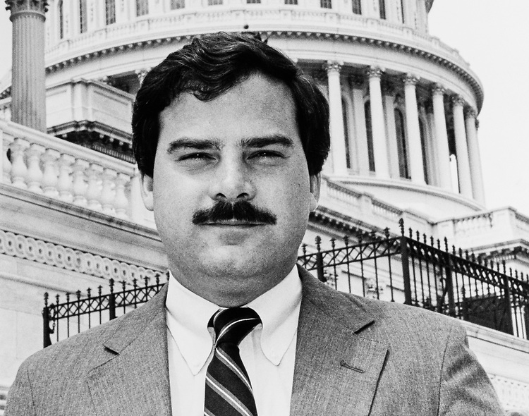 Close-up of Rep. John G. Rowland, R-Conn., on August 21, 1989. (Photo by Marc Siegal/CQ Roll Call)