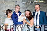 Little Dára Burchill, Killarney celebrates his christening with his parents Seanie and Ramona and his godparents Mel Barry and Diarmuid Lane in St Mary's Cathedral on Sunday
