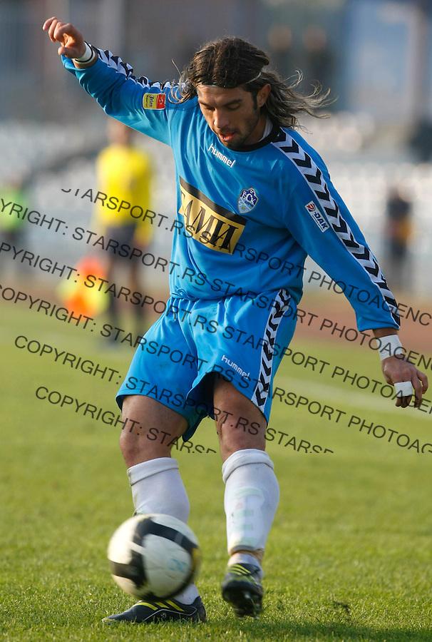 Fudbal, Jelen Super liga, sezona 2009/2010.BSK Borca Vs. Rad.Borislav Topic.Beograd, 31.10.2009..foto: Srdjan Stevanovic/Starsportphoto ©