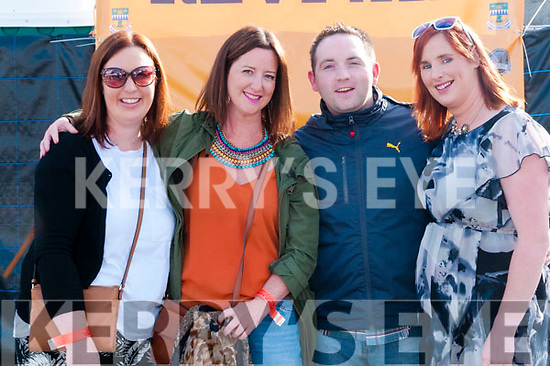 Revival Concert : Attending the Revival Concert in  the Square, Listowel on SAturday night last were Tanya Stack-Kissane, Claire O'Connor, Dan Hayes & Maura O'Hanlon.
