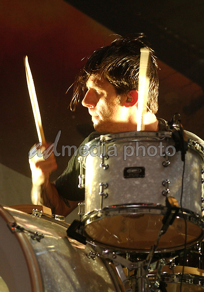June 27, 2006; Pittsburgh, PA, USA:  Drummer ATOM WILLARD (of Rocket From The Crypt & The Offspring)  performs with his new band, ANGELS & AIRWAVES held at the Chevrolet Ampitheatre.  Mandatory Credit:  Photo by Jason L Nelson/AdMedia  © Copyright 2006 by Jason L Nelson.