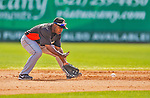 9 March 2013: Miami Marlins infielder Chone Figgins in action during a Spring Training game against the Washington Nationals at Space Coast Stadium in Viera, Florida. The Nationals edged out the Marlins 8-7 in Grapefruit League play. Mandatory Credit: Ed Wolfstein Photo *** RAW (NEF) Image File Available ***