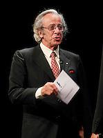 Cerimonia di consegna del premio Le Maschere del Teatro Italiano al Teatro San Carlo di Napoli , 5 Settembre 2014<br /> nella foto Mariano Rigillo