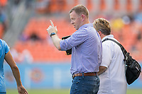 Houston, TX - Saturday May 13, Sky Blue FC head coach Christy Holly during a regular season National Women's Soccer League (NWSL) match between the Houston Dash and Sky Blue FC at BBVA Compass Stadium. Sky Blue won the game 3-1.