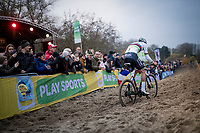 CX World Champion Mathieu van der Poel (NED/Corendon-Circus)<br /> <br /> Elite Men's Race<br /> UCI cyclocross WorldCup - Koksijde (Belgium)<br /> <br /> ©kramon