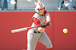 MADISON, WI - APRIL 15: Katie Hnatyk #9 of the Wisconsin Badgers hits the ball against the Purdue Boilermakers at the Goodman Diamond softball field on April 15, 2007 in Madison, Wisconsin. (Photo by David Stluka)