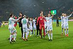 05.02.2019, Signal Iduna Park, Dortmund, GER, DFB-Pokal, Achtelfinale, Borussia Dortmund vs Werder Bremen<br /> <br /> DFB REGULATIONS PROHIBIT ANY USE OF PHOTOGRAPHS AS IMAGE SEQUENCES AND/OR QUASI-VIDEO.<br /> <br /> im Bild / picture shows<br /> Jubel der Bremer Mannschaft nach dem Sieg in Dortmund<br /> Davy Klaassen (Werder Bremen #30)<br /> Milot Rashica (Werder Bremen #11)<br /> Martin Harnik (Werder Bremen #09)<br /> Ludwig Augustinsson (Werder Bremen #05)<br /> Johannes Eggestein (Werder Bremen #24)<br /> Maximilian Eggestein (Werder Bremen #35)<br /> Niklas Moisander (Werder Bremen #18)<br /> Jiri Pavlenka (Werder Bremen #01)<br /> <br /> Foto © nordphoto / Ewert