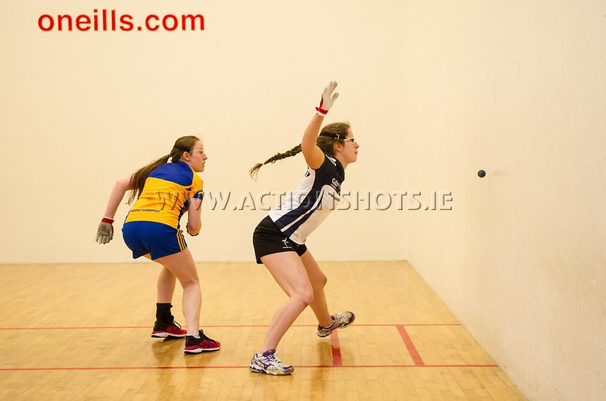 07/04/2018; GAA Handball O&rsquo;Neills 40x20 Championship Final Girls Minor Doubles Clare (Catriona Millane/Bridin Dinan) v Kildare (Leah Doyle/Molly Dagg); Kingscourt, Co Cavan;<br /> Molly Dagg<br /> Photo Credit: actionshots.ie/Tommy Grealy