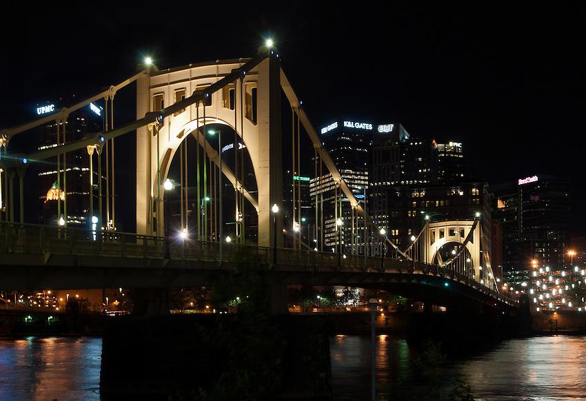 Roberto Clemente Bridge at Night