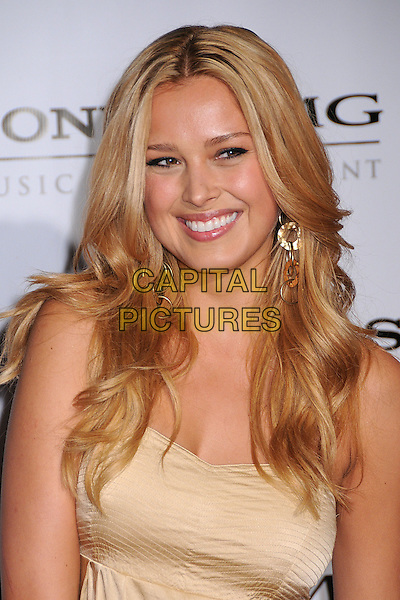 PETRA NEMCOVA.The 2008 Sony BMG Post Grammy Party held at The Beverly Hills Hotel in Beverly Hills, California, USA..February 10th, 2008 .headshot portrait dangling gold earrings beige.CAP/ADM/BP.©Byron Purvis/AdMedia/Capital Pictures.