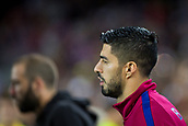 12th September 2017, Camp Nou, Barcelona, Spain; UEFA Champions League Group stage, FC Barcelona versus Juventus; Luis Suarez of FC Barcelona goes onto the pitch